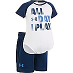 Under Armour® Size 0-3M 2-Piece All Day I Play Bodysuit and Short Set