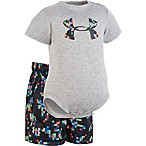 Under Armour® Size 3-6M 2-Piece Digital Camo Bodysuit and Short Set in Grey