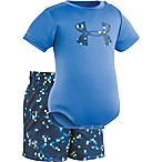 Under Armour® Size 6-9M 2-Piece Digital Camo Bodysuit and Short Set in Blue
