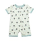 Silkberry Baby® Size 6-12M Snails Romper in White