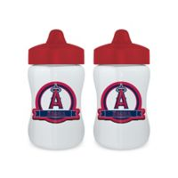 Baby Fanatic® MLB Los Angeles Angels 9 oz. Sippy Cups in Red/Blue (Set of 2)