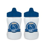 Baby Fanatic® MLB Kansas City Royals 9 oz. Sippy Cups in Blue/White (Set of 2)