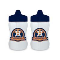 Baby Fanatic® MLB Houston Astros 9 oz. Sippy Cups in Orange/Blue (Set of 2)