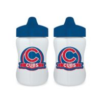 Baby Fanatic® MLB Chicago Cubs 9 oz. Sippy Cups in Blue/Red (Set of 2)