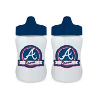 Baby Fanatic® MLB Atlanta Braves 9 oz. Sippy Cups in Blue/White (Set of 2)