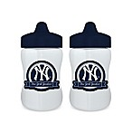 Baby Fanatic® MLB New York Yankees 9 oz. Sippy Cups in Blue/White (Set of 2)