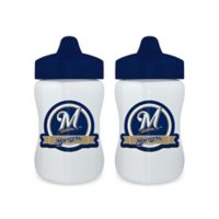 Baby Fanatic® MLB Milwaukee Brewers 9 oz. Sippy Cups in Blue/White (Set of 2)