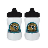 Baby Fanatic® NFL Jacksonville Jaguars 9 oz. Sippy Cups in Blue/Gold (Set of 2)
