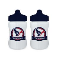 Baby Fanatic® NFL Houston Texans 9 oz. Sippy Cups in Blue/Red (Set of 2)