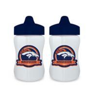 Baby Fanatic® NFL Denver Broncos 9 oz. Sippy Cups in Blue/Orange (Set of 2)