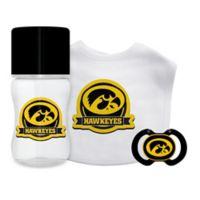 Baby Fanatic® University of Iowa 3-Piece Gift Set in Black/Yellow