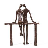 Danya B. Romantic Couple Reclining Sculpture in Bronze