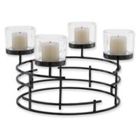 Danya B. Round Votive Candle Holder in Metallic Black