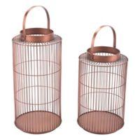 Zuo® Wire Lanterns in Bronze (Set of 2)
