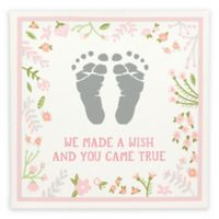 """Pearhead® Babyprints """"We Made a Wish and You Came True"""" Wall Art In Pink"""