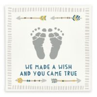 """Pearhead® Babyprints """"We Made a Wish and You Came True"""" Wall Art in Blue"""