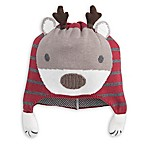 Elegant Baby® Size 0-12M Reindeer Aviator Hat in Red/Grey