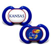 Baby Fanatic® Gen. 3000 University of Kansas 2-Pack Pacifiers