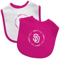 Baby Fanatic® MLB San Diego Padres 2-Pack Bibs in Pink