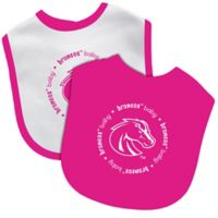 Baby Fanatic® Boise State University 2-Pack Bibs in Pink