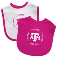 Baby Fanatic® Texas A&M 2-Pack Bibs in Pink