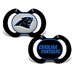 Baby Fanatic® Gen. 3000 NFL Carolina Panthers 2-Pack Pacifiers