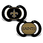 Baby Fanatic® Gen. 3000 NFL New Orleans Saints 2-Pack Pacifiers