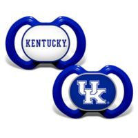 Baby Fanatic® University of Kentucky 2-Pack Orthodontic Pacifiers in Blue/White