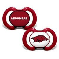 Baby Fanatic® University of Arkansas 2-Pack Orthodontic Pacifiers in Red/Black