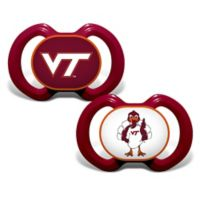 Baby Fanatic® Virginia Tech University 2-Pack Orthodontic Pacifiers in Maroon/White