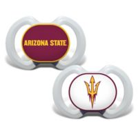 Baby Fanatic® Arizona State University 2-Pack Orthodontic Pacifiers in Red/Yellow