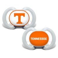 Baby Fanatic® University of Tennessee 2-Pack Orthodontic Pacifiers in Orange/White