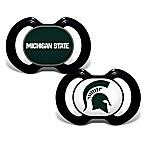 Baby Fanatic® Michigan State University 2-Pack Orthodontic Pacifiers in Green