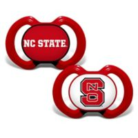 Baby Fanatic® North Carolina State University 2-Pack Orthodontic Pacifiers in Black/Red