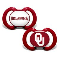Baby Fanatic® University of Oklahoma 2-Pack Orthodontic Pacifiers in Red