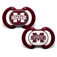 Baby Fanatic® Mississippi State University 2-Pack Orthodontic Pacifiers in Maroon