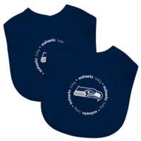 Baby Fanatic® NFL Seattle Seahawks 2-Pack Bibs in Lime Green