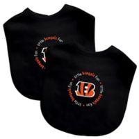 Baby Fanatic® NFL Cincinnati Bengals 2-Pack Bibs in Orange/Black