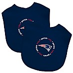 Baby Fanatic® NFL New England Patriots  2-Pack Bibs in Navy/White