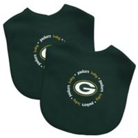 Baby Fanatic® NFL Green Bay Packers 2-Pack Bibs in Green/Yellow