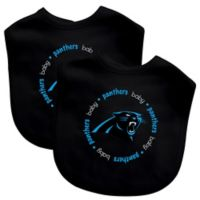 Baby Fanatic® NFL Carolina Panthers 2-Pack Bibs in Black/Blue
