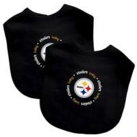 Baby Fanatic® NFL Pittsburgh Steelers 2-Pack Bibs in Black/Yellow