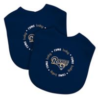 Baby Fanatic® NFL Los Angeles Rams 2-Pack Bibs in Navy/Yellow