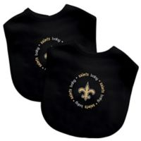 Baby Fanatic® NFL New Orleans Saints 2-Pack Bibs in Gold