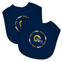 Baby Fanatic® NFL Los Angeles Rams Vintage 2-Pack Bibs in Blue/Yellow