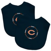 Baby Fanatic® NFL Chicago Bears 2-Pack Bibs in Navy