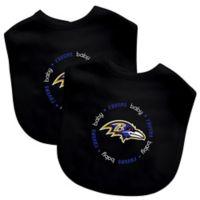 Baby Fanatic® NFL Baltimore Ravens 2-Pack Bibs in Black/Purple