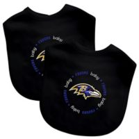 531e9f94c7e Baby Fanatic® NFL Baltimore Ravens 2-Pack Bibs in Black/Purple