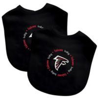 Baby Fanatic® NFL Atlanta Falcons 2-Pack Bibs in Black/Red