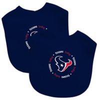 Baby Fanatic® NFL Houston Texans 2-Pack Bibs in Navy/Red